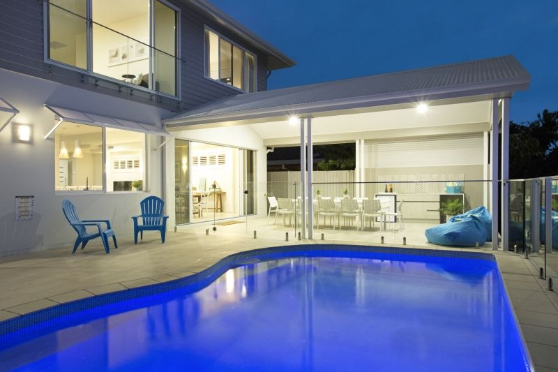 Sandy Cove   Luxury Gold Coast Holiday Homes #beach #waterfront #goldcoast  #australia #holidayhome #pool #patio #outdoor #backyard #decking #deck  #pavers