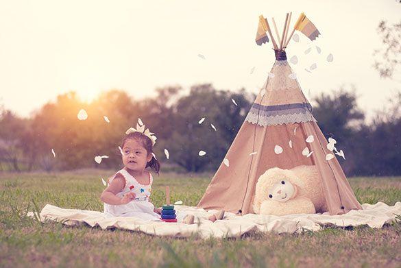 Sesión de fotos infantil con Tepee