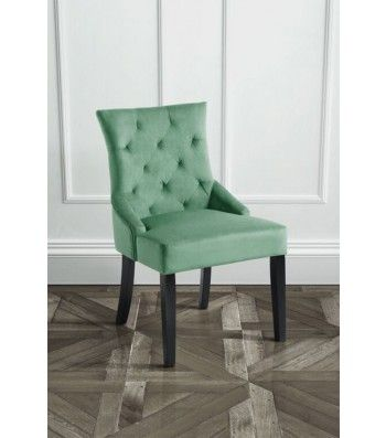 Torino Jade Upholstered Scoop Back Dining Chair With Dark Legs Esszimmerstuhle Esszimmer Inspiration Polsterstuhl