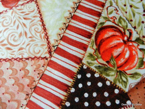 One Fat Quarter Quilt Fabric Cheater Cloth Fall by DesignsByDona ... : quilting fabrics supplies - Adamdwight.com