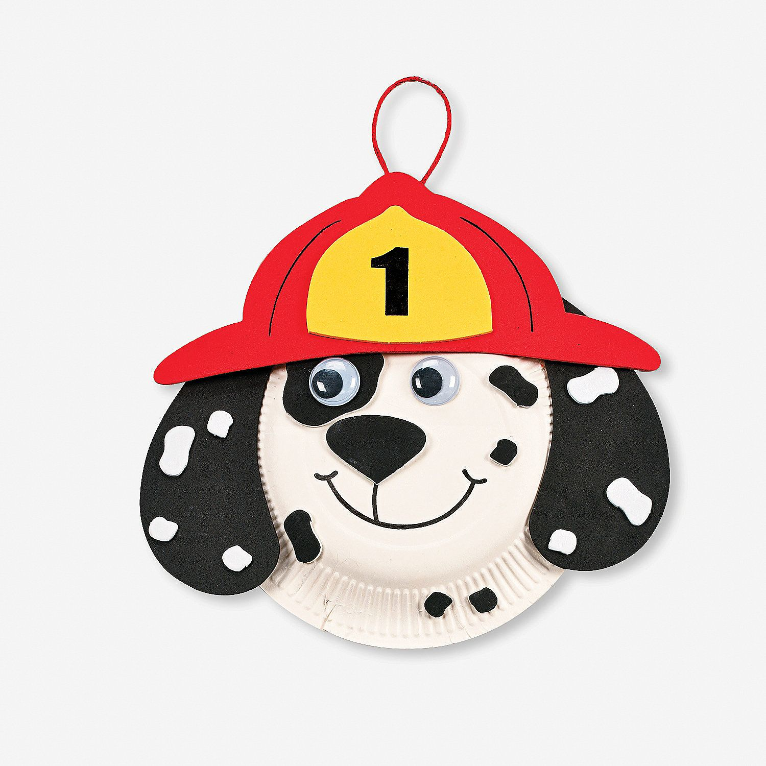 24 Dalmatian Fire Safety Paper Plate Craft Kits - OrientalTrading.com