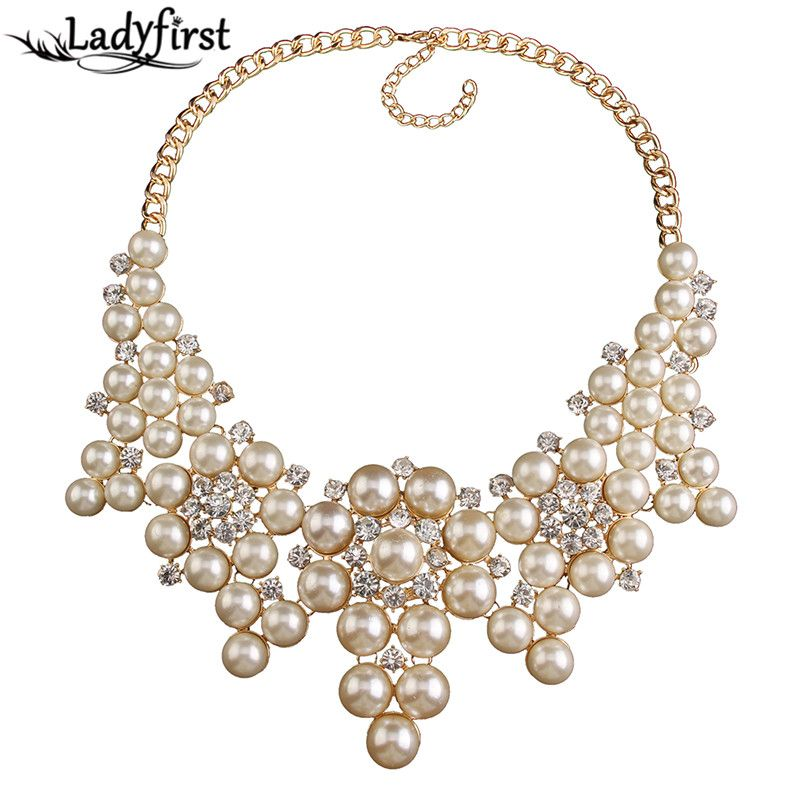 Fashion Vintage Imitation Heavy Simulated Pearl Crystal Gem Necklaces & Pendants Statement Collar Necklace 3547 Oh YeahVisit us: www.jewelrydue.co... #shop #beauty #Woman's fashion #Products #homemade