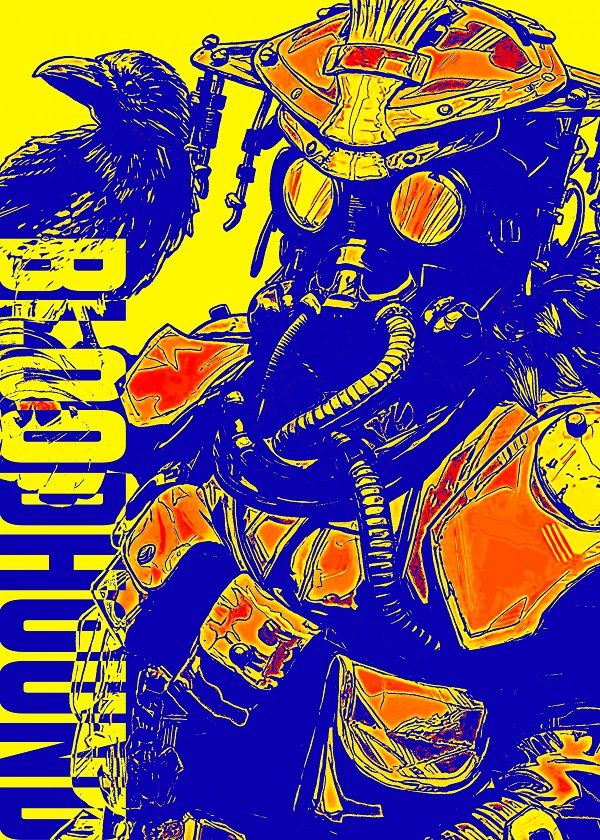 Apex Legends Yellow Sketch Characters Displate Posters