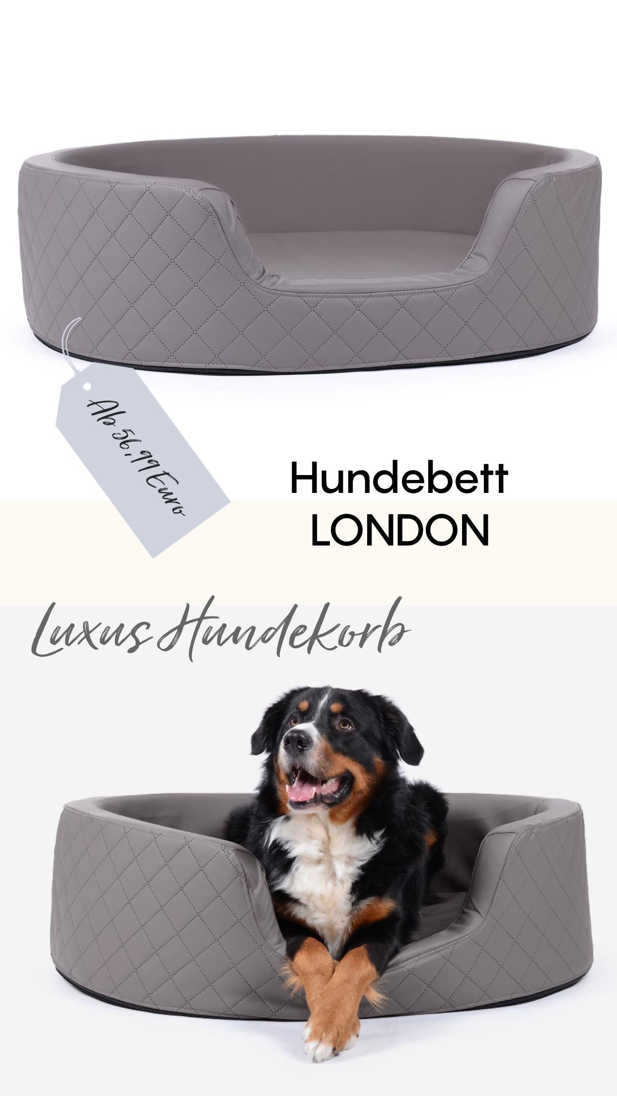 Die Stylischen Hundebetten Variante London Ist In Unterschiedlichen Farben Und Zwei Verschiedenen Grossen Von 80x60 Cm Bis 100x80 Cm Hunde Bett Hunde Hundebett