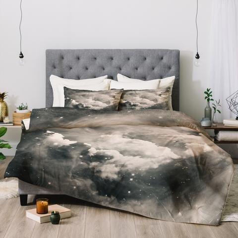 Leena Reversible Cozy Faux Fur Comforter Set in Grey ... |Deluca Comforter Set