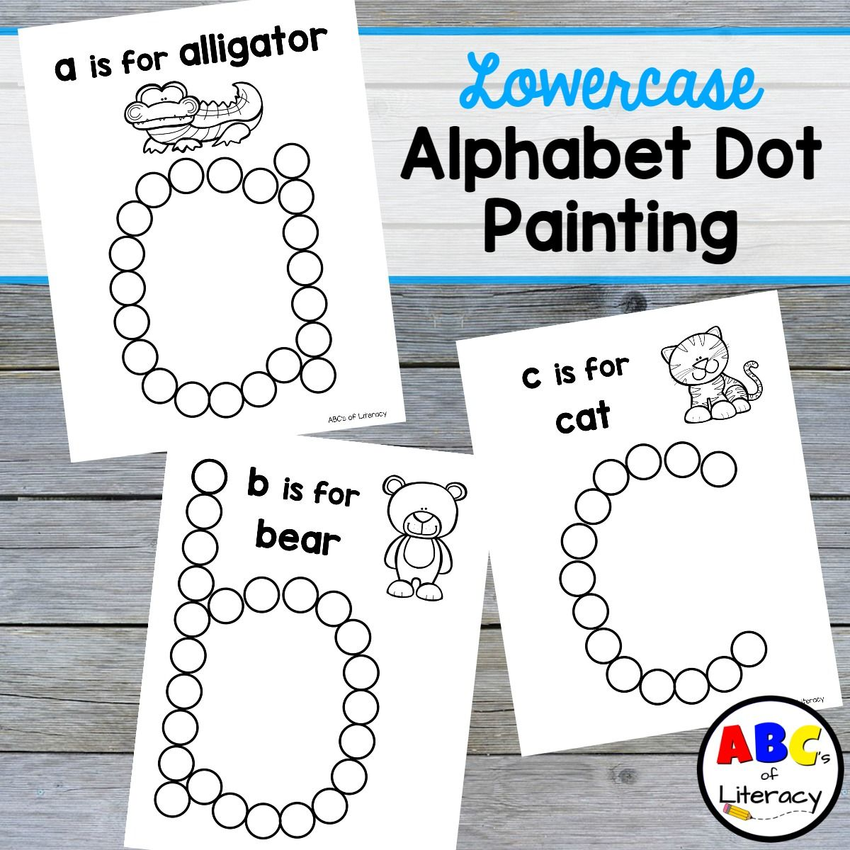 lowercase alphabet dot painting free printables