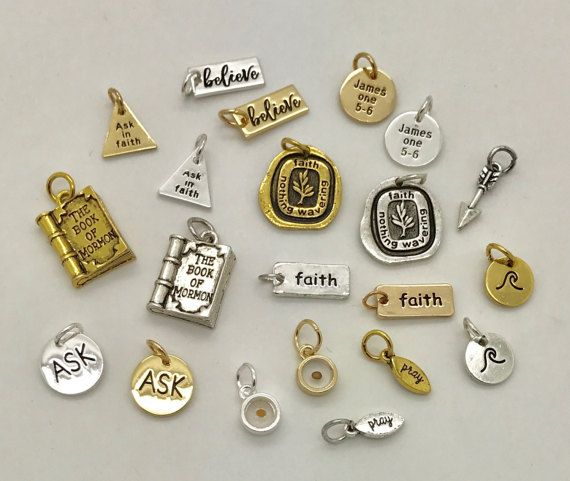 Boy Scouts themed Set of 6 Charm Charms DIY