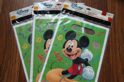 DISNEY MICKEY MOUSE TREAT SACKS party favor loot sacks supplies set of 24 NEW