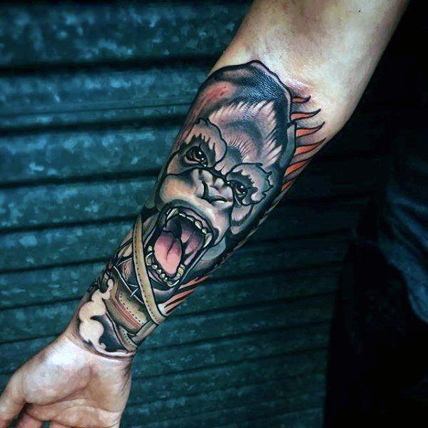 Neo Traditional Badass Mens Forearm Tattoo Sleeves | tattoos ...