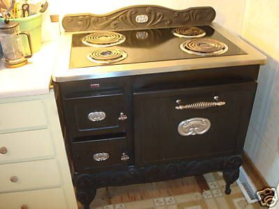 Electric Kitchen Stove sears country kitchen stove - today's ebay pick | stove, stove