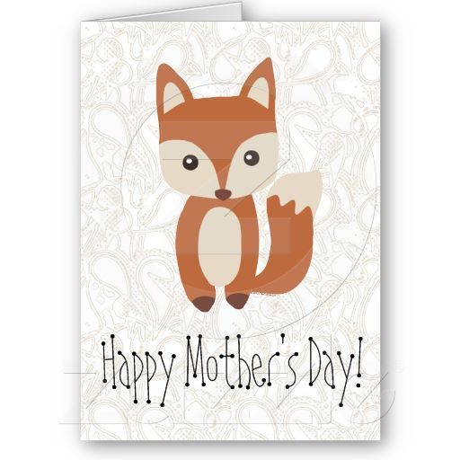 Mother's Day Fox Personalized Greeting Card