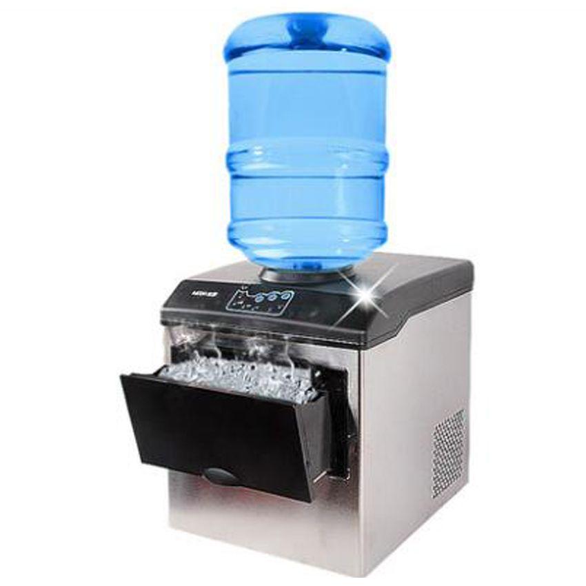 1 Adet Hzb25 220 V 160 W 25 Kg Elektrikli Ticari Tezgah Bullet Buz Makinesi Makinesi Sut Cay Dukkani Ice Maker