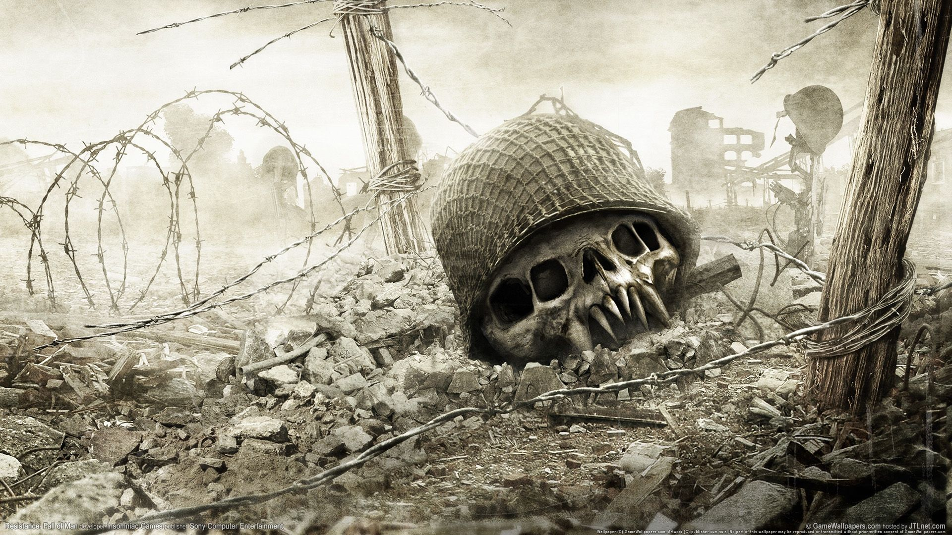 Awesome Resistance Skull Helmet Mutation Download Image Pin Hd Wallpapers