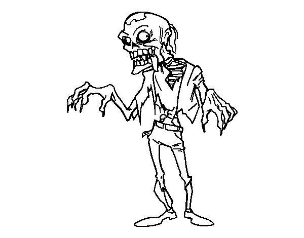 Dibujo de Un zombie para Colorear   Tipos de letra   Pinterest ...