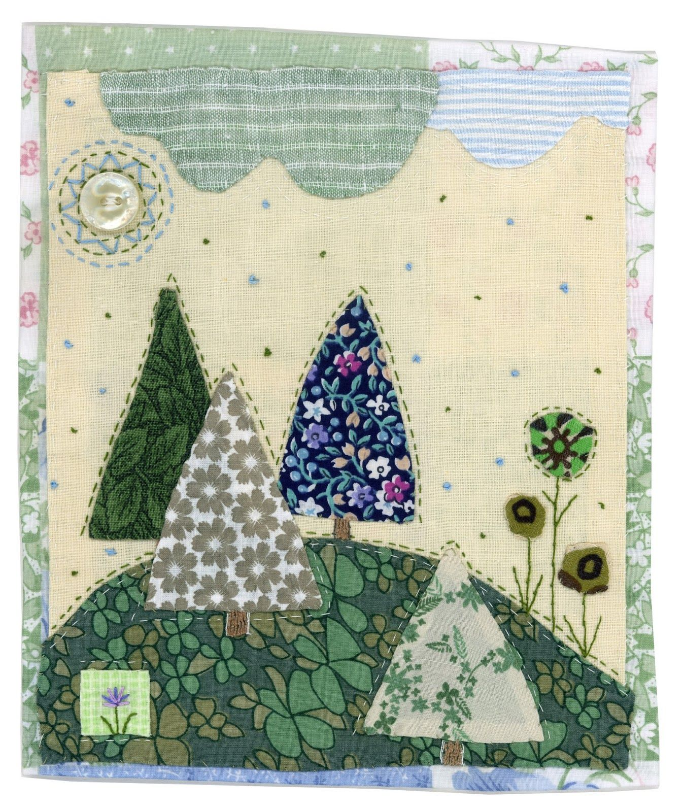 Green pleasant by Sharon Blackman   Fabric Collage   Pinterest ...