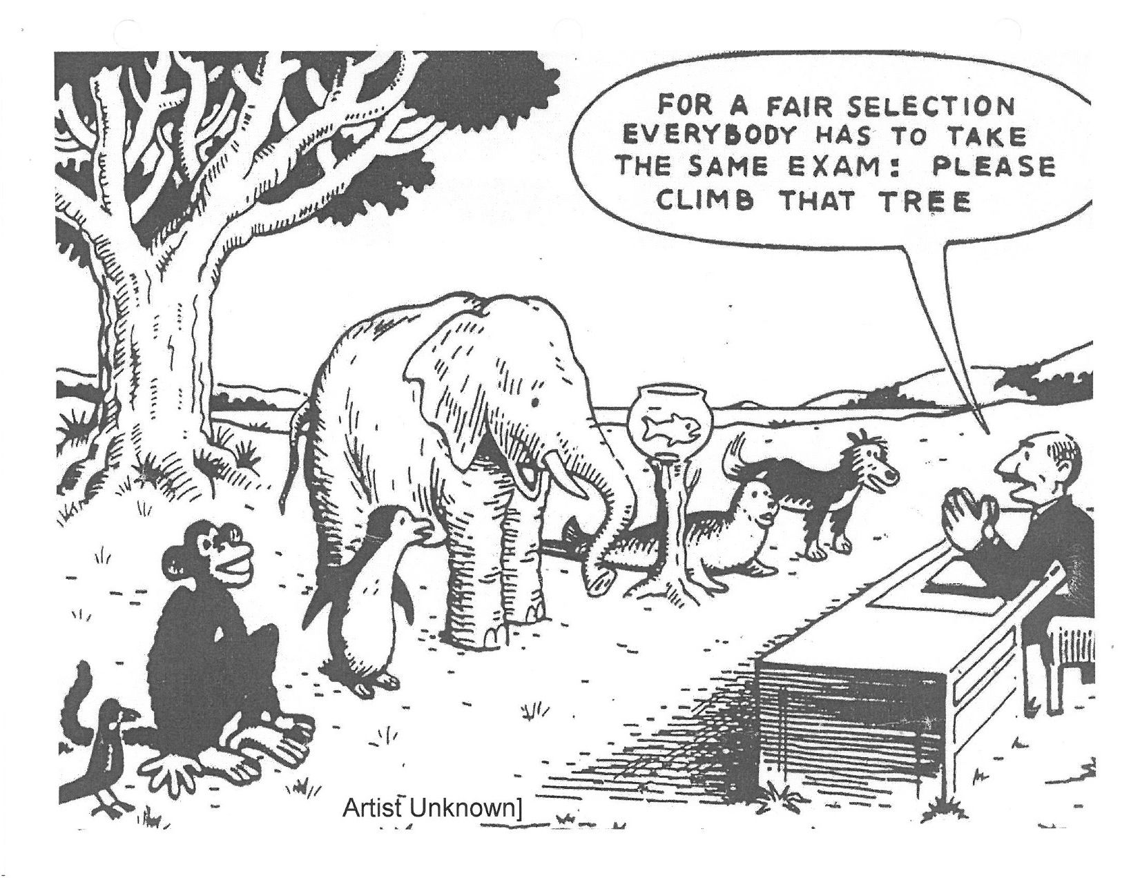 Cartoons Climb That Tree Education System Teacher Humor