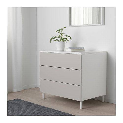 sports shoes 3d9ba 0af50 PLATSA Chest of 3 drawers White/skatval light grey IKEA in ...