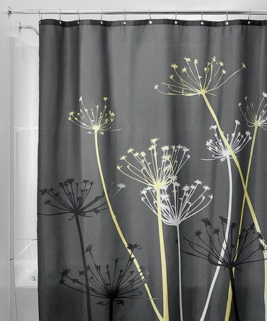 11 79 Marked Down From 26 Gray Yellow Thistle Shower Curtain