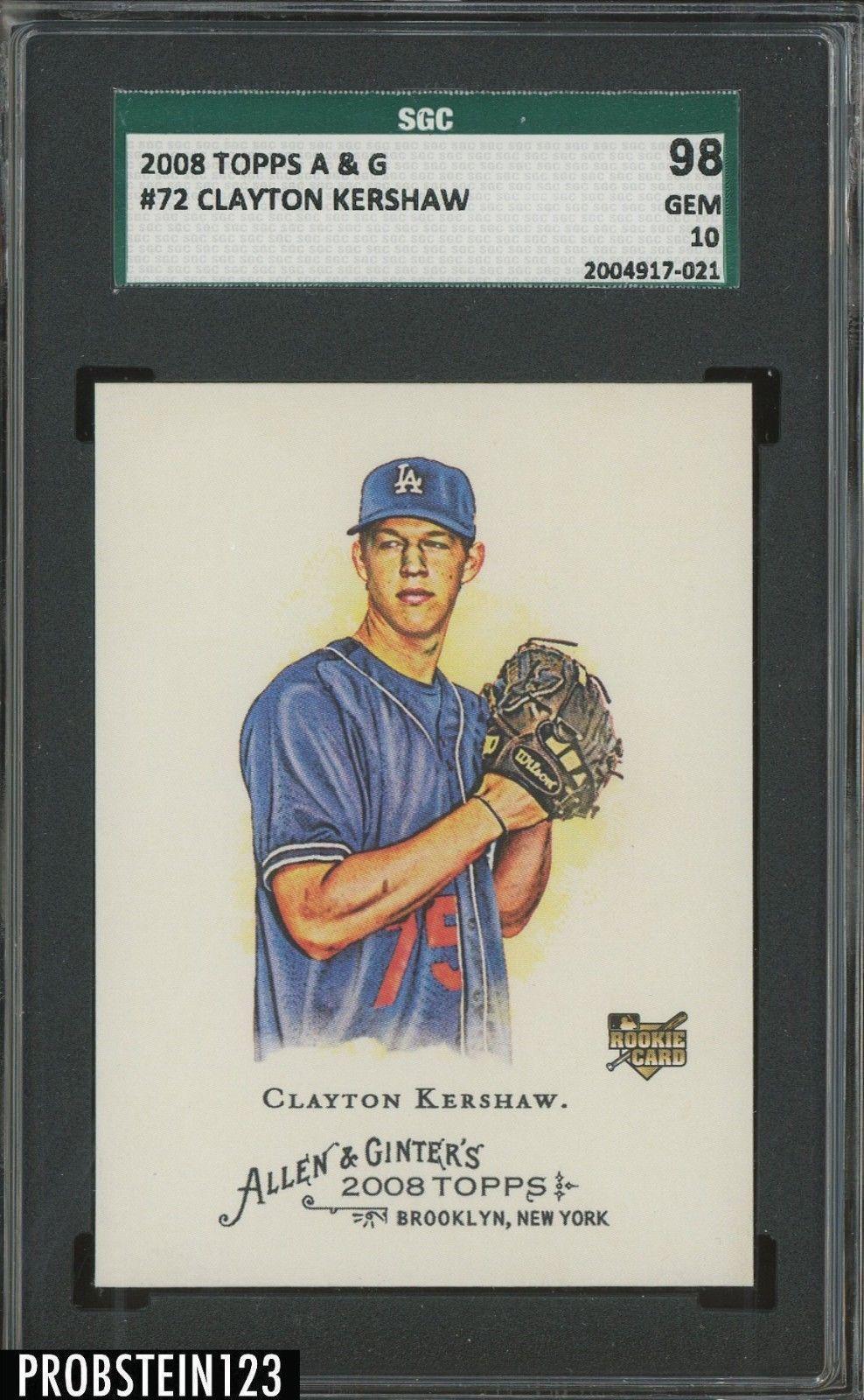 2008 Topps Allen Ginter 72 Clayton Kershaw Dodgers Rc