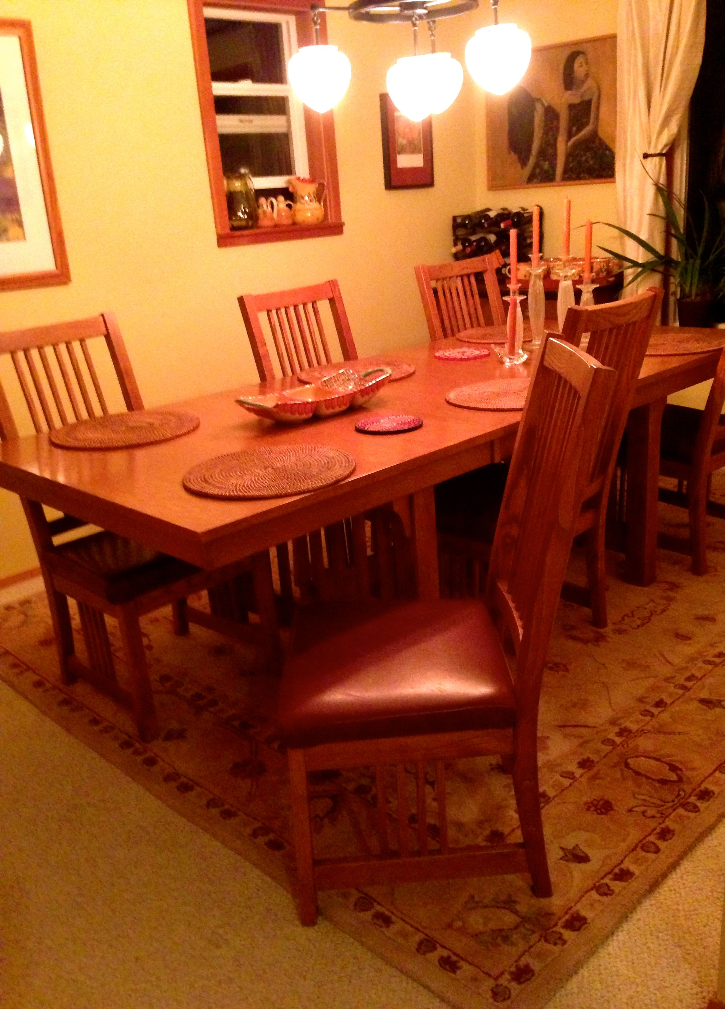 The dining room that is no more.  We sold the table and chairs.