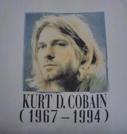 76f2e8e64 Genuine 1995 KURT COBAIN RIP Vintage T-Shirt With his painting on the  back..See…