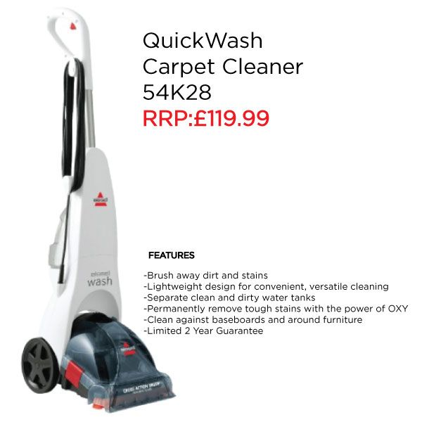6d263379d0c Clean wherever messes happen with the BISSELL QuickWash™ Carpet Cleaner and  permanently remove stains with the power of OXY.