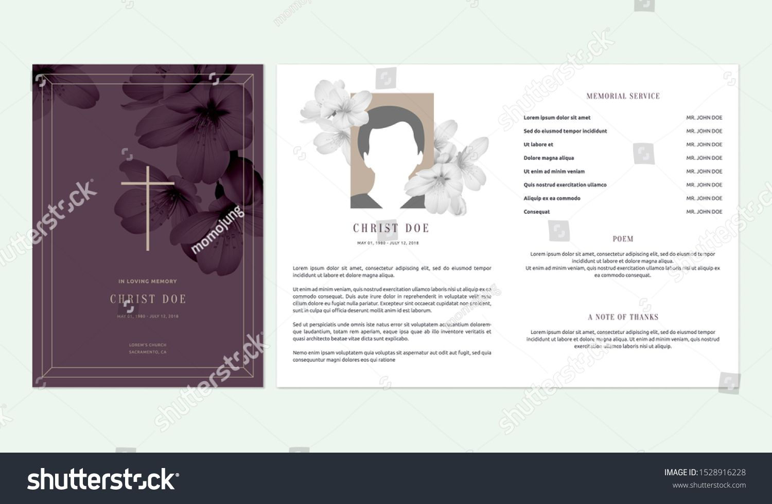 The Surprising Floral Memorial Funeral Invitation Card Template Stock With Regard To Funera Memorial Cards For Funeral Funeral Templates Free Funeral Templates
