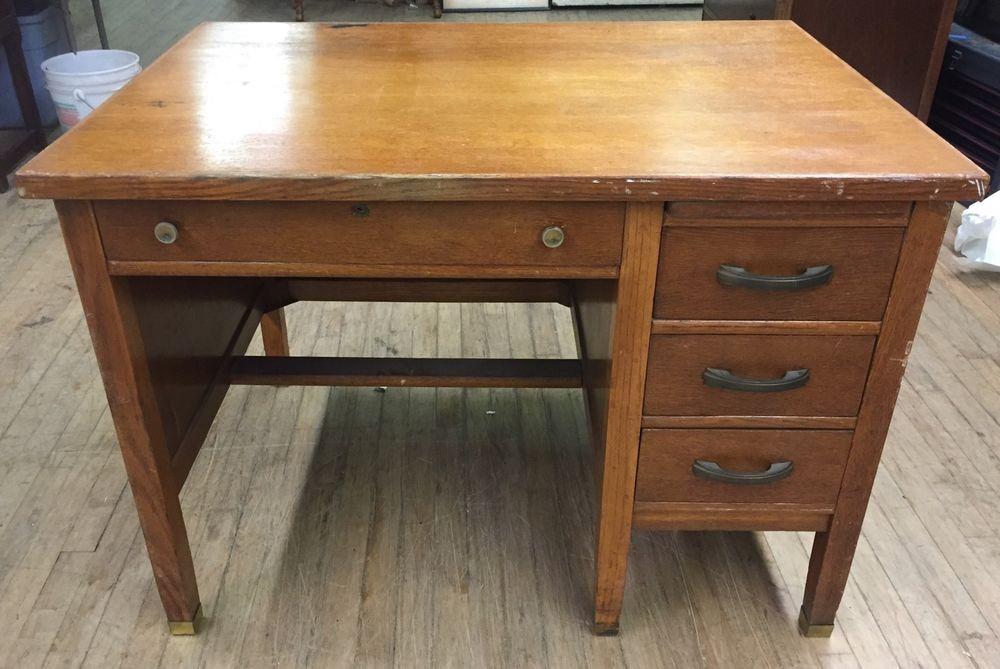 1900s Oak Students Desk Antique Ebay Antique Desk Vintage