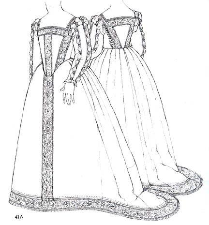 dress diary: mid 16th century italian gown.