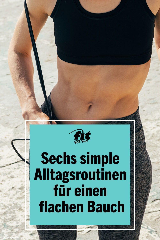 Abnehmen: 6 tägliche Routinen für einen flachen Bauch