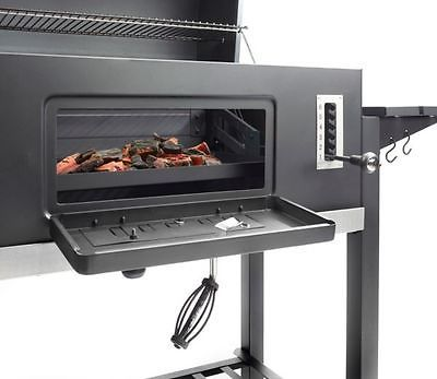 el fuego ontario xxl holzkohle grillwagen holzkohlegrill smoker barbecue home grill. Black Bedroom Furniture Sets. Home Design Ideas
