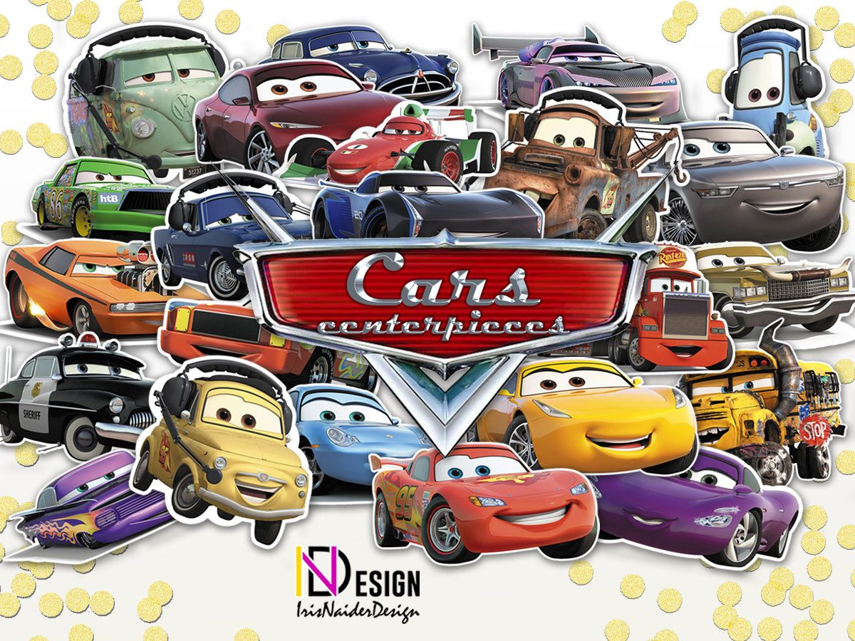 31 Cars Centerpieces 3 2 Small Em Big Sizescars Printable CenterpiecesDisney By