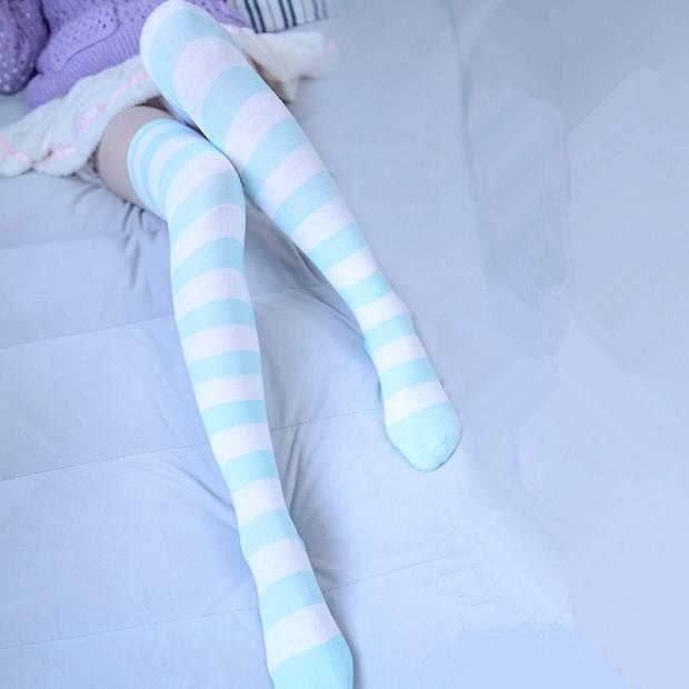 60269ba0347 www.sanrense.com - Cute sweet stripes stockings SE2929