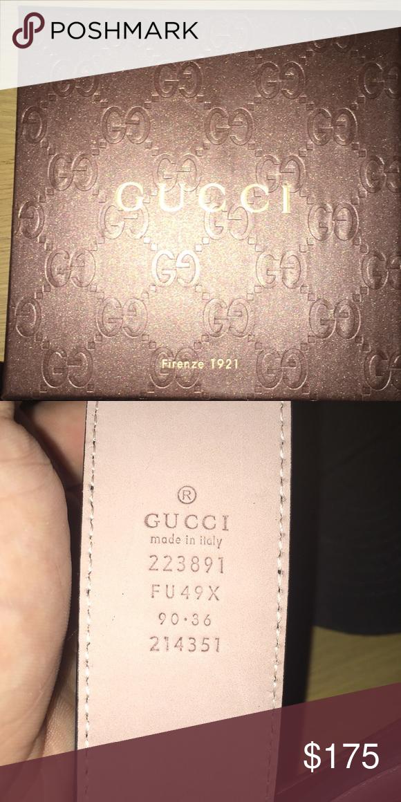 b7d30af22cd Men s Gucci belt Size 32 men s authentic Gucci belt Gucci Accessories Belts