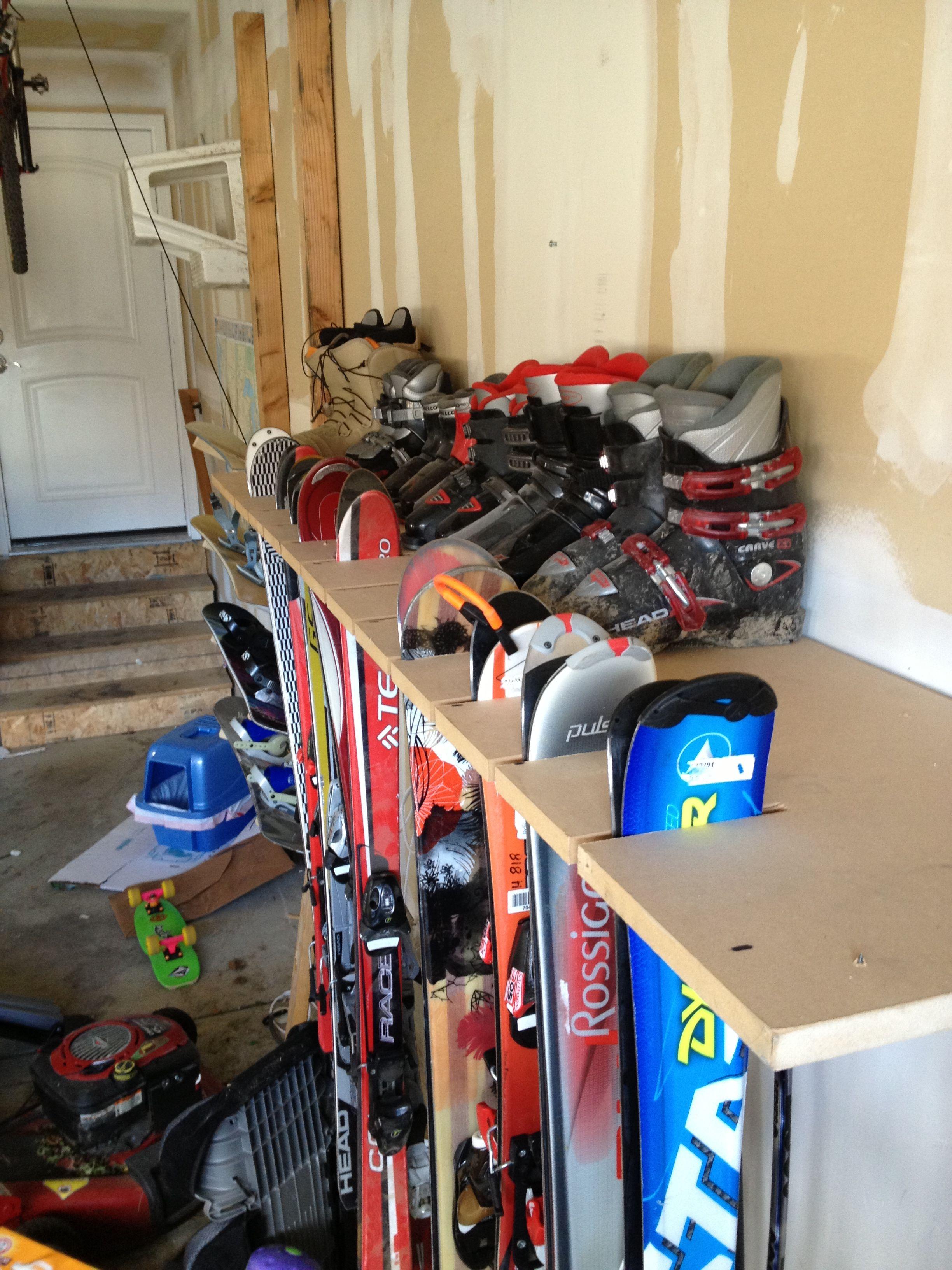 Garage Organization Skis   Google Search. Garage OrganizationGarage  StorageStorage RackStorage IdeasOrganizingSki ...