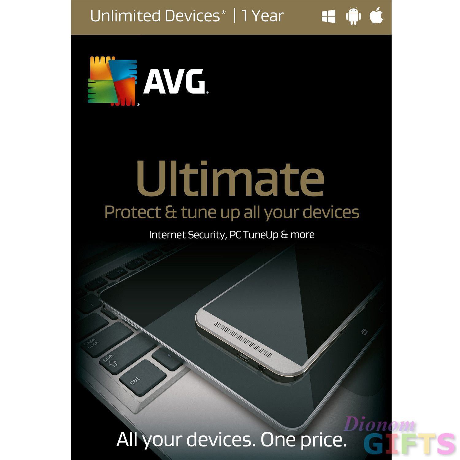 AVG ULTIMATE, 1 YEAR (WIN XP,VISTA,WIN 7,WIN 8,WIN 10MAC OS X,10.8 OR LATER/ANDROID BAS)