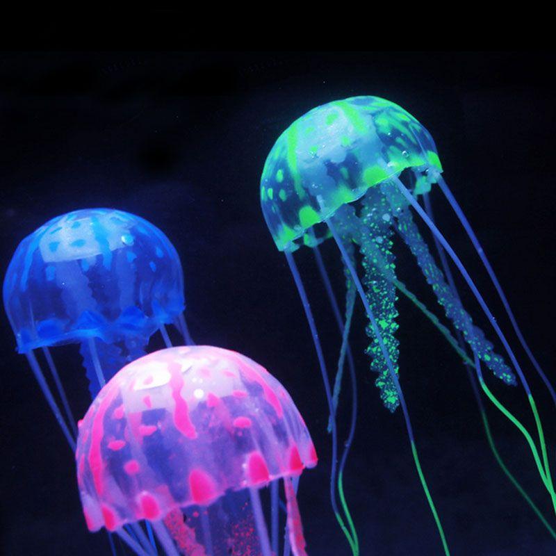 Multicolor Silica Gel Simulation Jellyfish Fish Tank And Aquarium Decoration Accessories D Fish Aquarium Decorations Aquarium Decorations Fish Tank Decorations