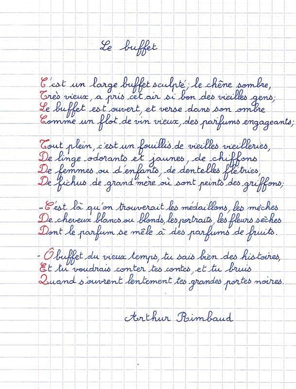 Poème Darthur Rimbaud Le Buffet Petits Poèmes En Bandes