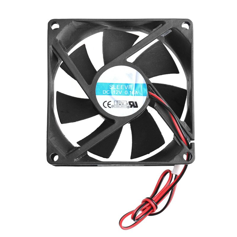 Hot 80 X 80 X 25mm 12v 2 Pin Brushless Cooling Fan For Computer