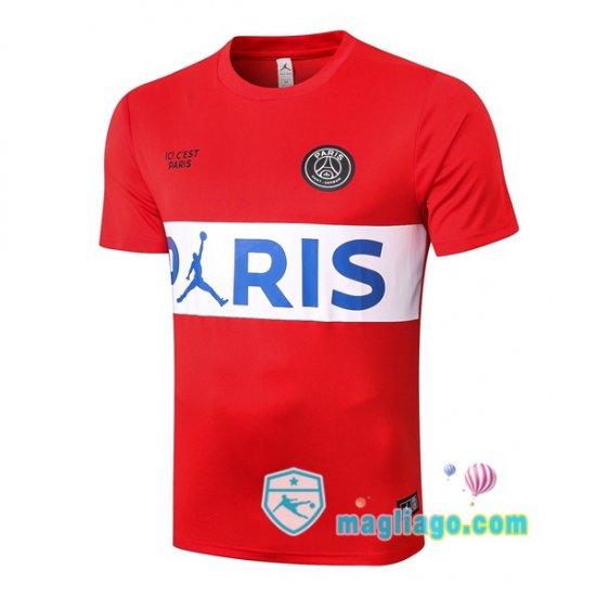 Maglie Allenamento JORDAN Paris PSG Rosso Bianco 2020/2021 | Psg ...