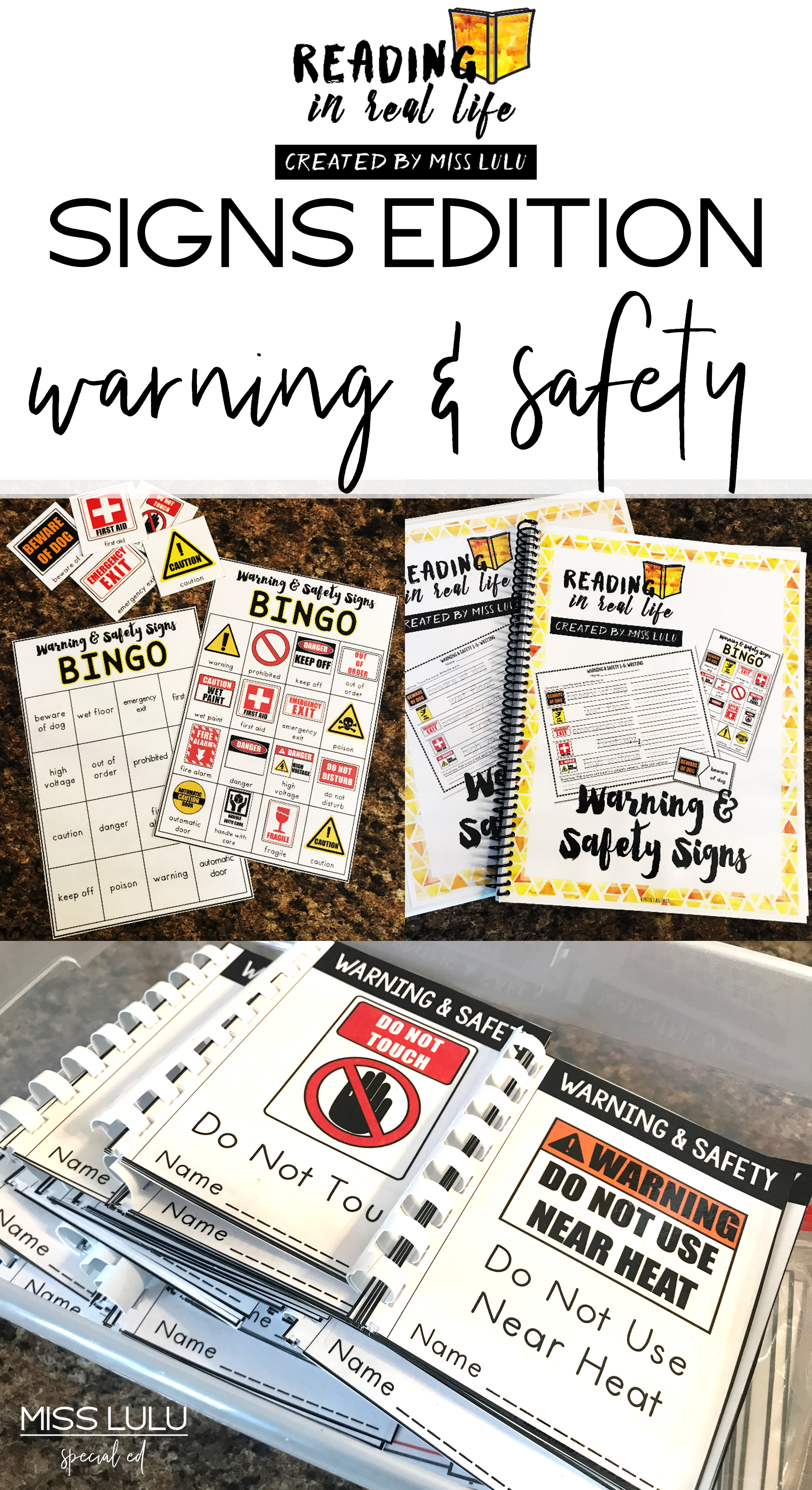 Reading In Real Life Warning Amp Safety Signs Unit