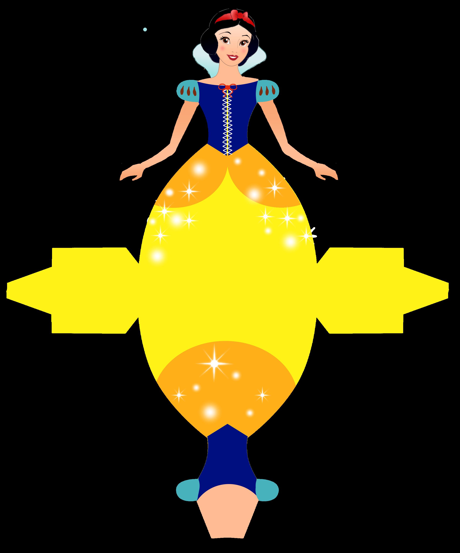 Caixa Vestido das Princesas da Disney! | Snow white, Free printable ...
