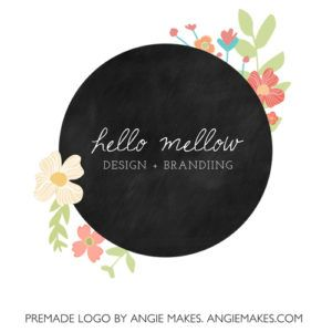 Hello Mellow Cute Floral Logo Design And Final Pages And
