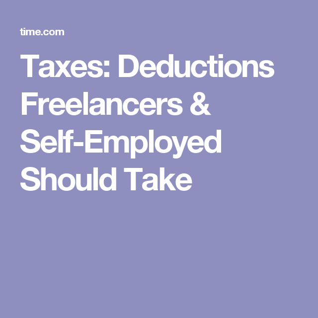 What Expenses Can I Write Off If I Am SelfEmployed  Deduction