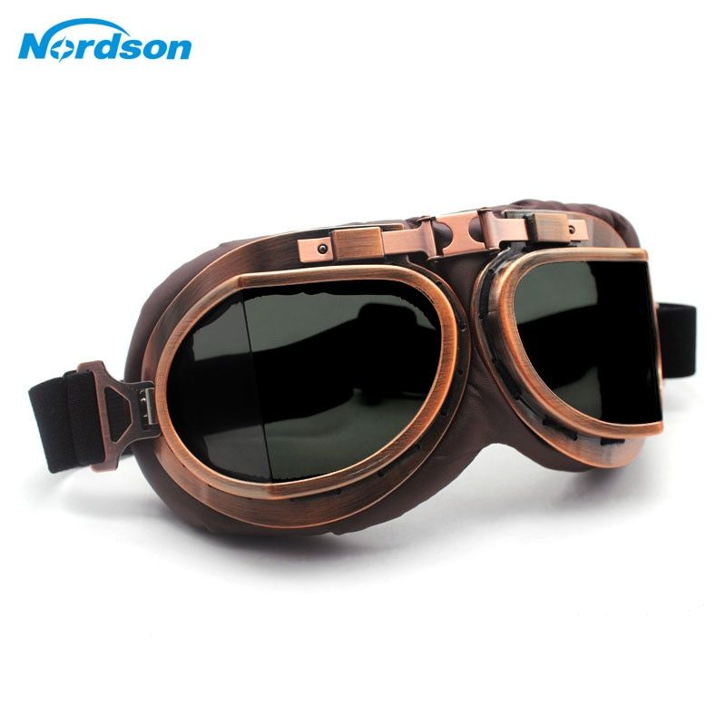 cf02dc35a Discount This Month Nordson Motorcycle Goggles Glasses Vintage Motocross  Classic Goggles Retro Aviator For Harley Protection Eyewear UV Protection