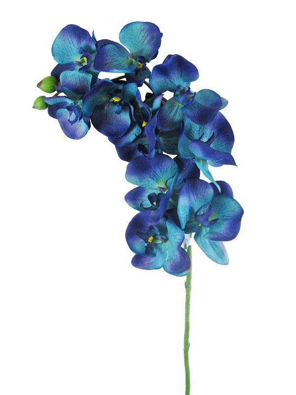 Cymbidium Orchid Silk Flower Spray In Blue 36 Tall With 10 Flowers Cymbidium Orchids Flower Spray Blue Orchid Wedding