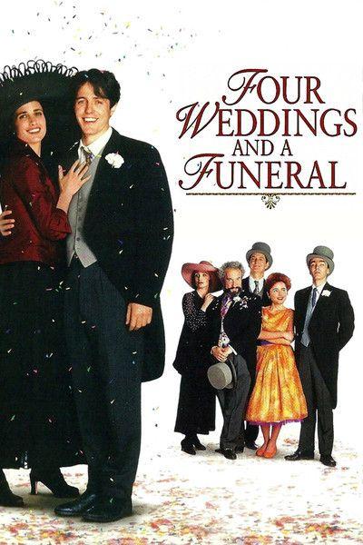 Four Weddings And A Funeral Hugh Grant Kristin Scott Thomas Andie Macdowell Rowan Atkinson John Hannah Wedding Movies British Movies Movie Tv