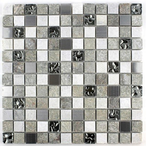 Mosaique salle de bain mur et sol swiri carrelage for Plaque inox mur
