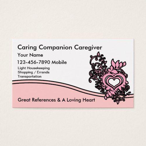 Caregiver Business Cards Home Health Card Ideas Visit