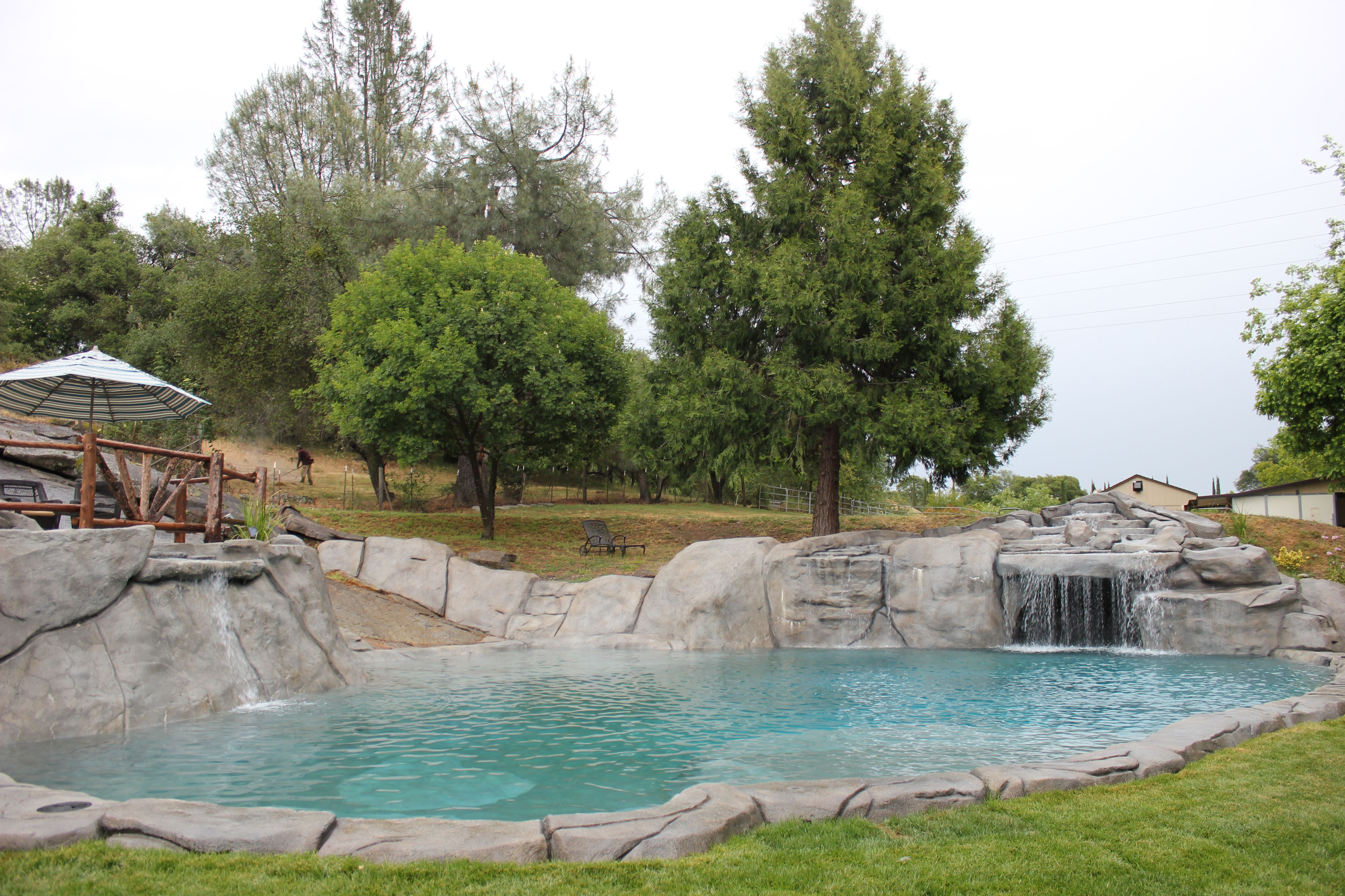 natural carved rock swimming pool. Swimming hole in your backyard ...